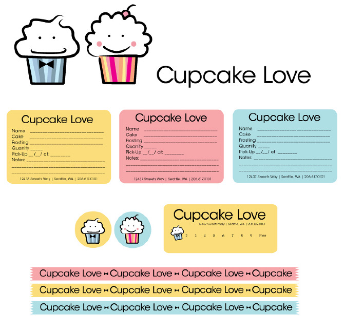 cupcake love - pink_bloom_studio, Invoice templates