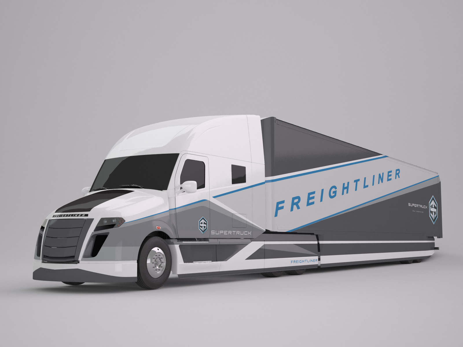 13b5a7d5177fcb Freightliner Supertruck - Sketchbook Inc.