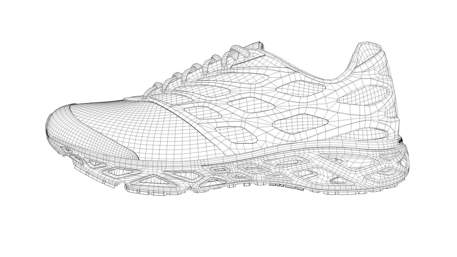 c29ab2b86de603 Final production shoe is a little different if you look it up on the web.  The upper webbing covers the entire shoe and is opaque.