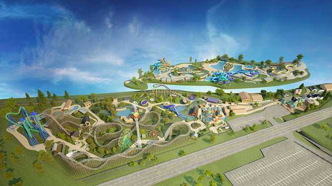 Silverwood Theme Park Map 3D Model