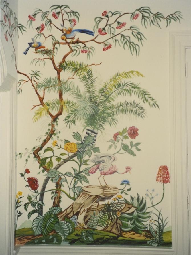 French wallpaper janenashmurals for Old french wallpaper