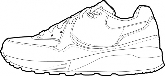 Shoe Templates Drawing