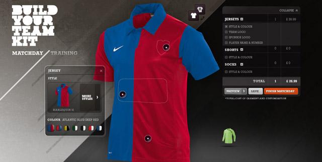 Build Your Own Football Kit Nike