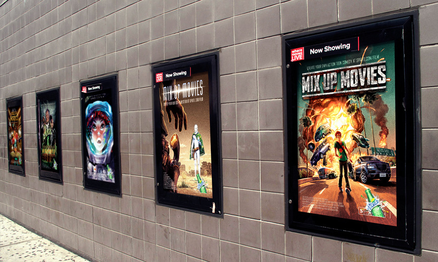 Sprite Mix Up Movies Posters Beth Erik I Creative Direction