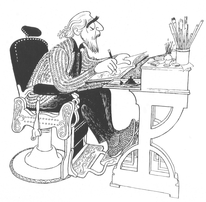 Al Hirschfeld Broadways King Of Caricature Illustration