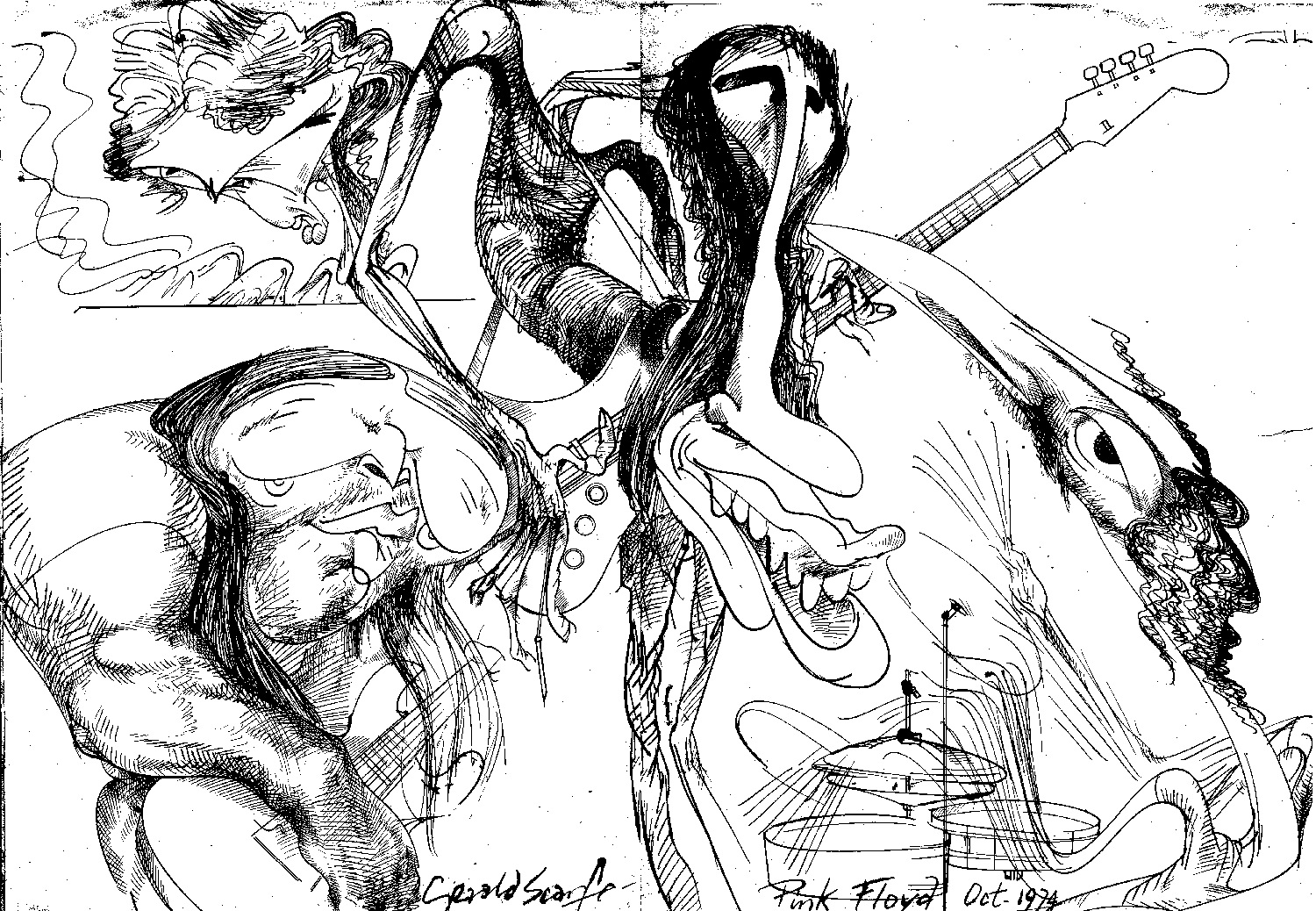 How Gerald Scarfe and Pink Floyd Built 'The Wall