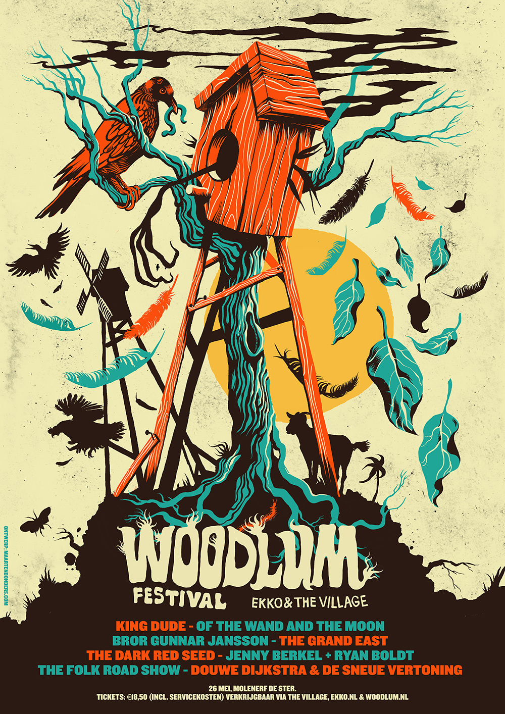 Woodlum Festival - Maarten Donders - artwork & illustration