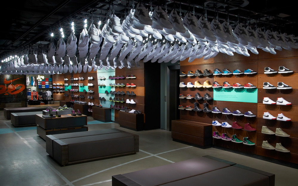 separation shoes 2c7df 81b1e Nike Town London — - Colin Cornwell — Design   Art Direction
