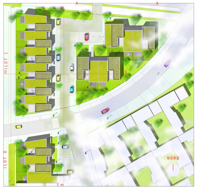 Paradise city for Plan de masse maison individuelle
