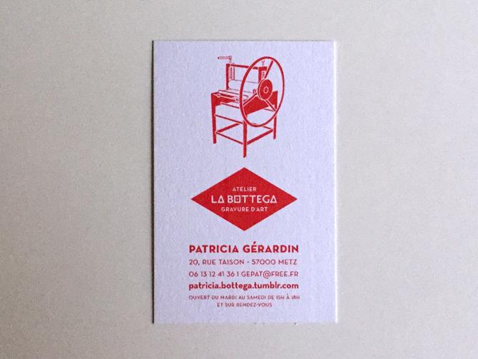 Cration Du Logo Et De La Carte Visite Pour Latelier Galerie Bottega Metz Spcialis Dans Gravure