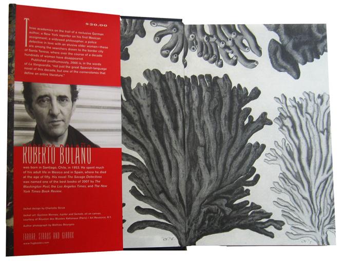 by Roberto Bolano  Book design by Nina Ulmaja    YouTube Amazon com  Left to right  Eric Lynch  Oscar Fate   Alejandra Escalante