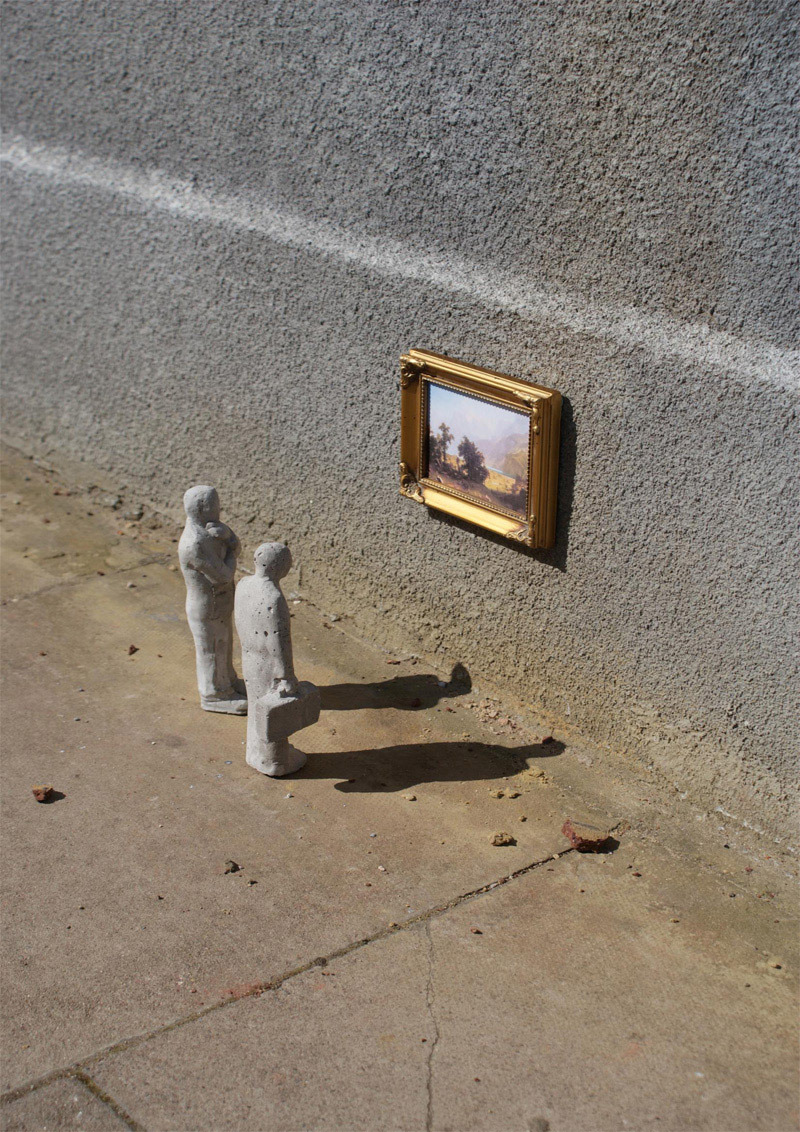 Isaac Cordal Cement Eclipses London Unurth Street Art