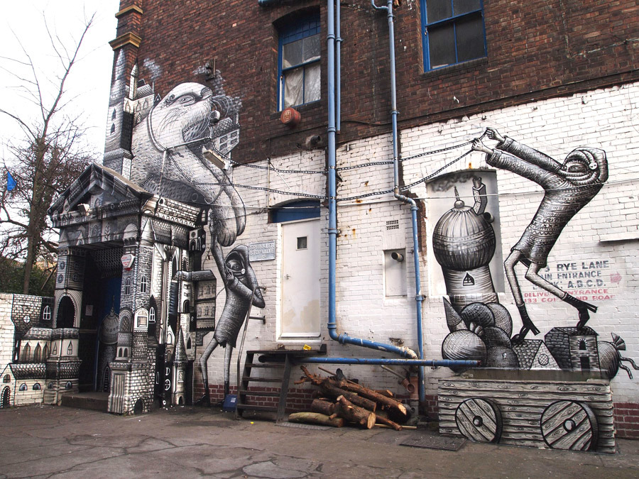 Phlegm Robots London Feb11 1 u 1000 Лучшие городские рисунки от unurth. gorodskoy dizayn