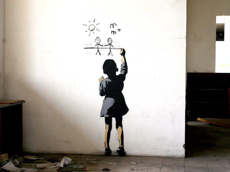 urban art stencil wall - photo #27