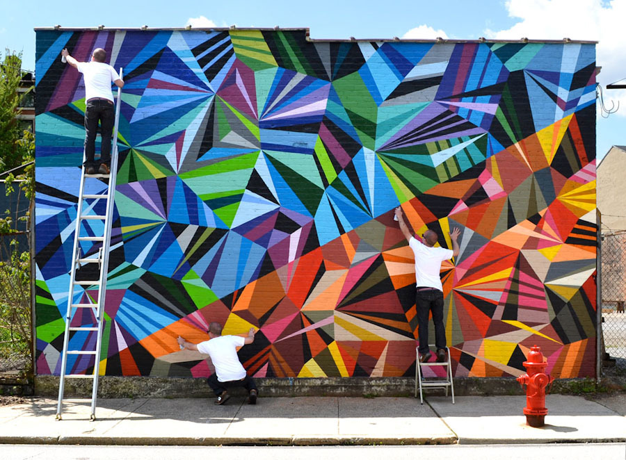Matt w moore cincinnati unurth street art for Exterior mural painting