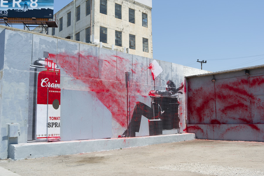 Unurth street art for Mural by mr brainwash