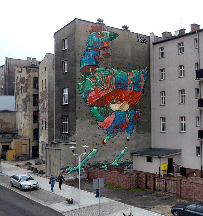 Aryz Finland Poland Unurth Street Art