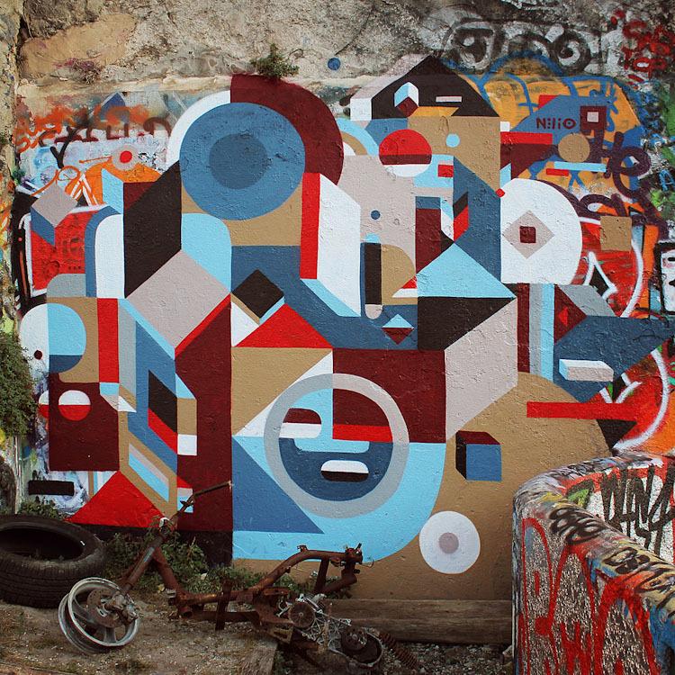 nelio in strasbourg bologna marseille unurth street art. Black Bedroom Furniture Sets. Home Design Ideas