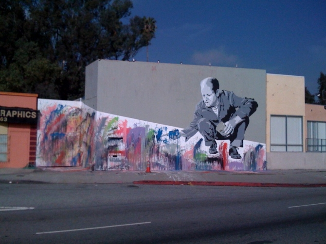 Mr brainwash jackson pollock los angeles unurth for Mural mr brainwash