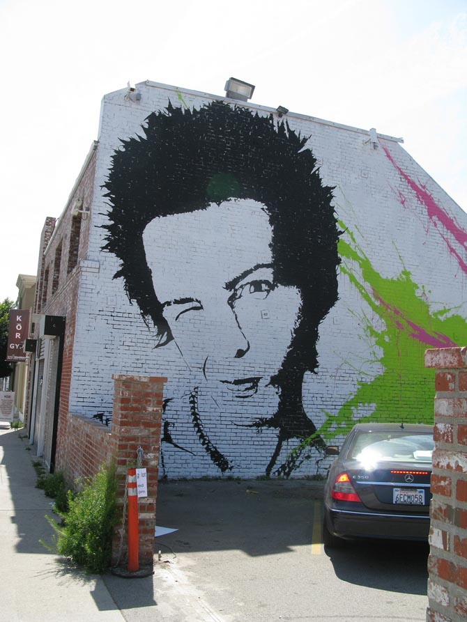 Mr brainwash sid vicious los angeles unurth street art for Mural mr brainwash