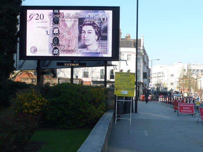 D*Face, G20 Billboards, London - unurth   street art
