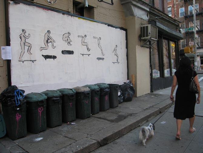 nyc skatebaord billboard unurth Лучшие городские рисунки от unurth. gorodskoy dizayn