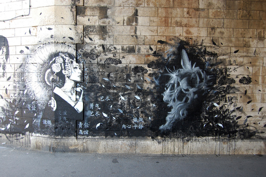 Snik + Finbarr, Vitry Jam, Paris - unurth | street art