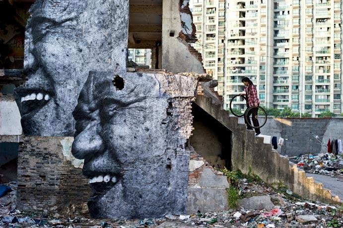 JR in Shanghai - unurth | street art