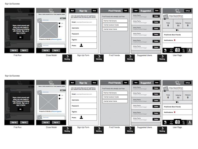 Pose - iPhone App - moddpodd