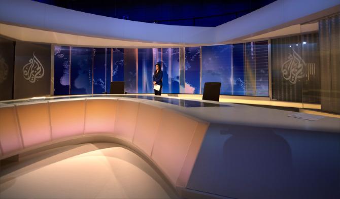 Al jazeera doha news studio flint skallen