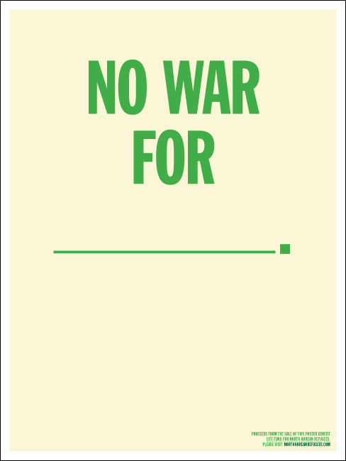 No War For Poster Themva Personal Network