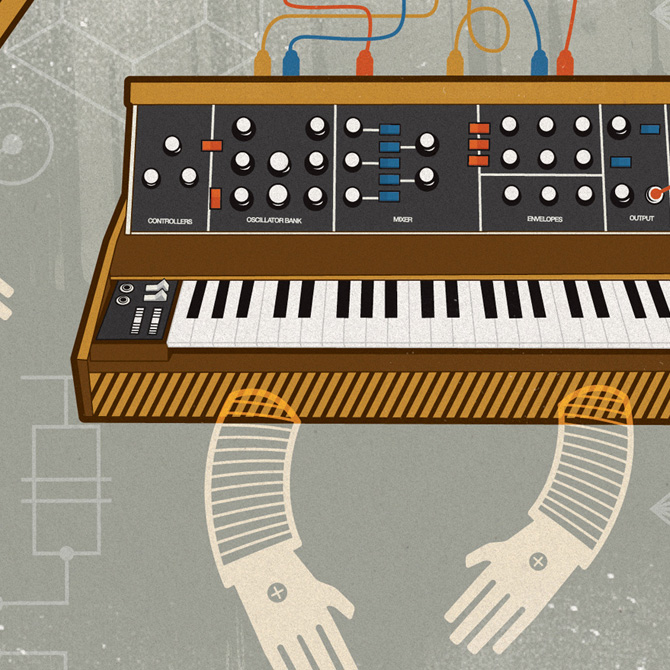 Moog Synth Robo-Man - Adam Hill / Velcrosuit - Graphic