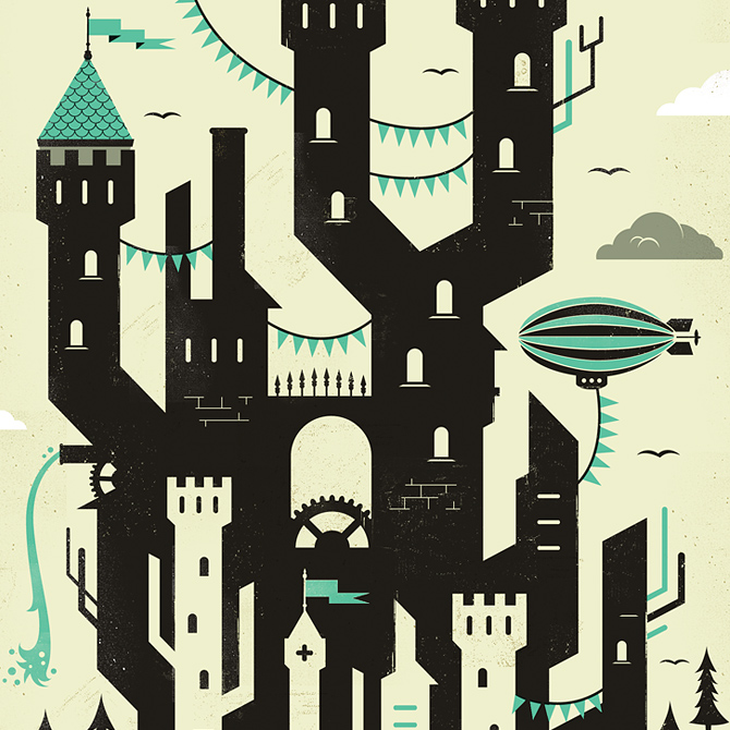 my home is my castle adam hill velcrosuit graphic design illustration - Home Graphic Design