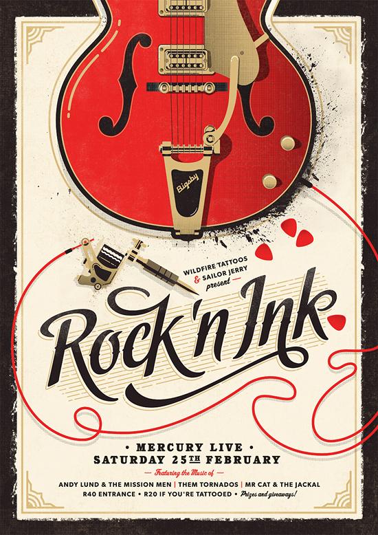 rock n ink adam hill velcrosuit graphic design illustration