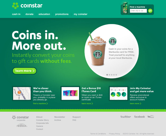 coinstar essay Access to over 100,000 complete essays and term papers the american red cross is an if half of those american living within 2 miles of a coinstar machine.