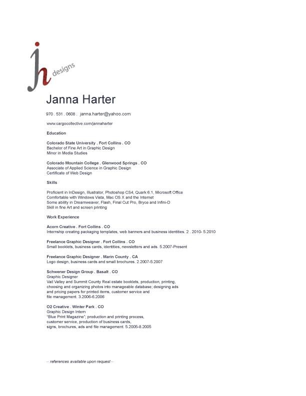 jh resume jh designs