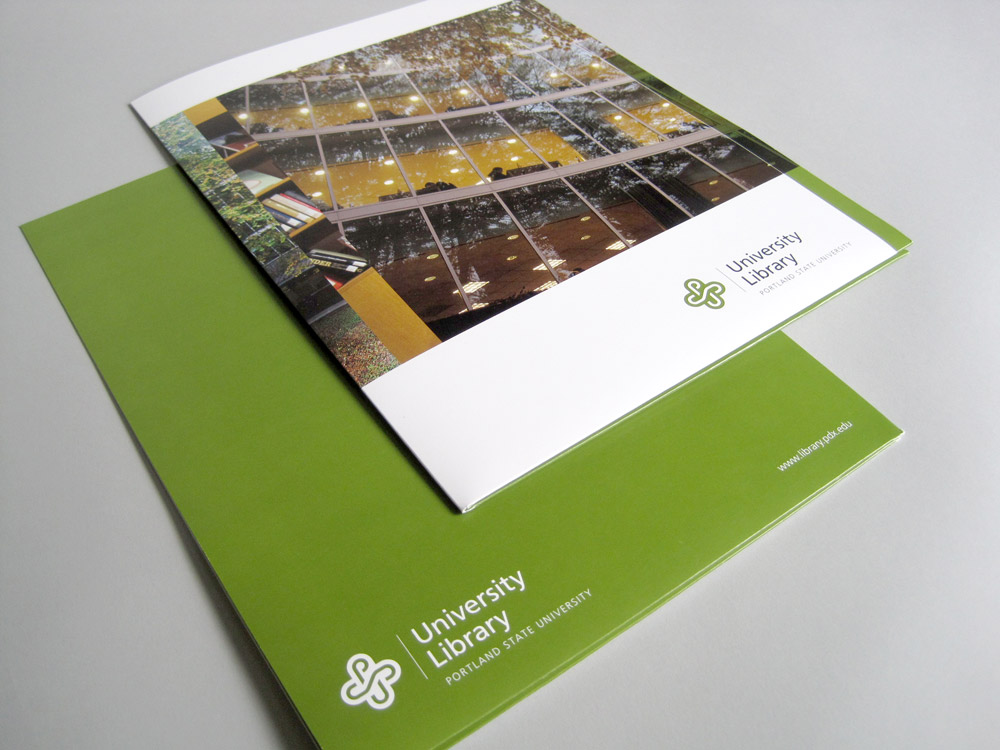 Portland State University Library Giving Brochure Maria Janosko Design