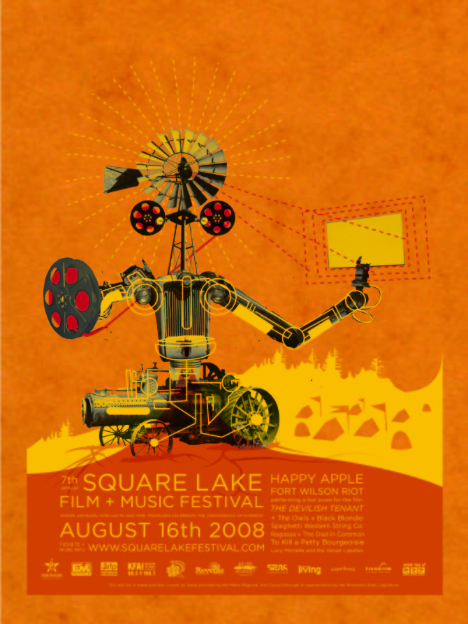 Every Year The Square Lake Film And Music Festival Founders Pick A Different Creative Team To Design Their Event Poster For 2008 Season I Worked With