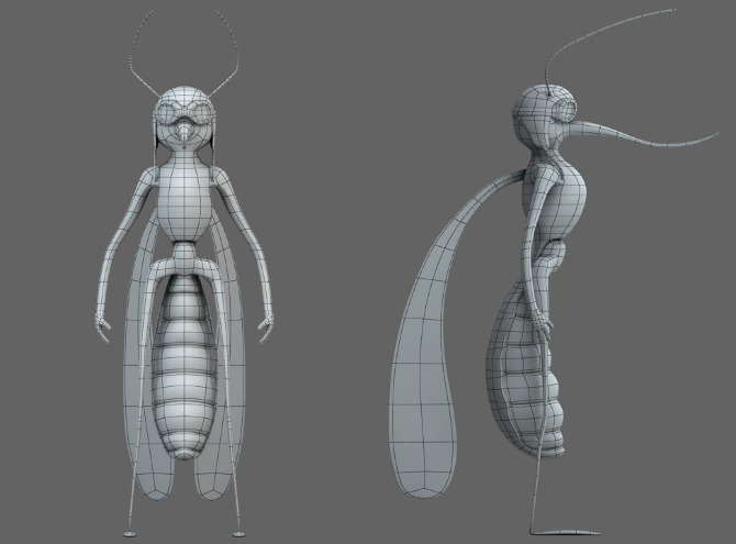 Character Design Tutorial In 3d Max : Mosquito character nunosantos d