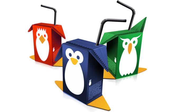Birdy Juice - Embalagens de sumo para crianças