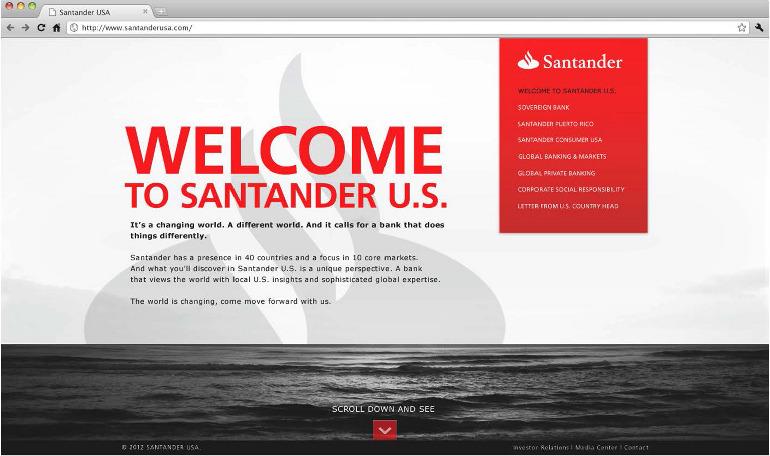 Sovereign / Santander - Home Page - Gabriel Reyes Art Director