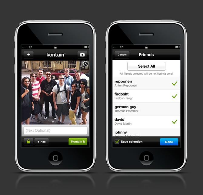 Kontain Iphone App Brian Sugden Ux Interactive Design