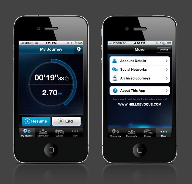Range Rover Evoque Iphone App Brian Sugden Ux