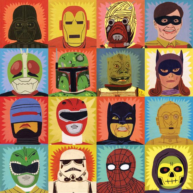 Heroes And Villains Jack Teagle Illustration