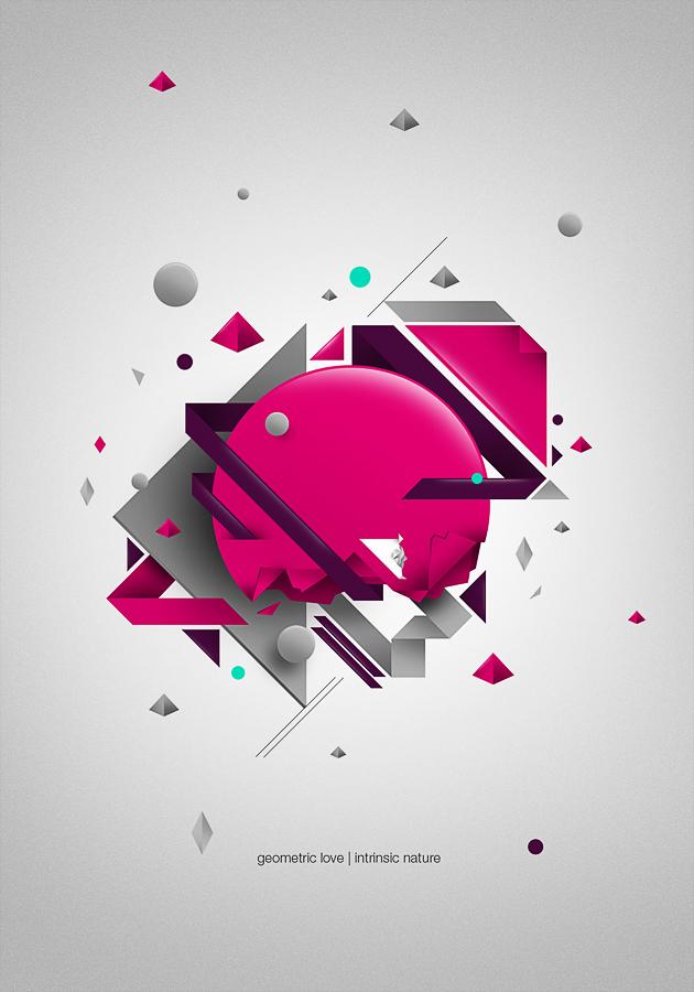 40 Striking Geometric Patterns Design Inspiration  Bashooka