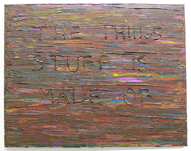 One Liner Oil Paint On Canvas 2010