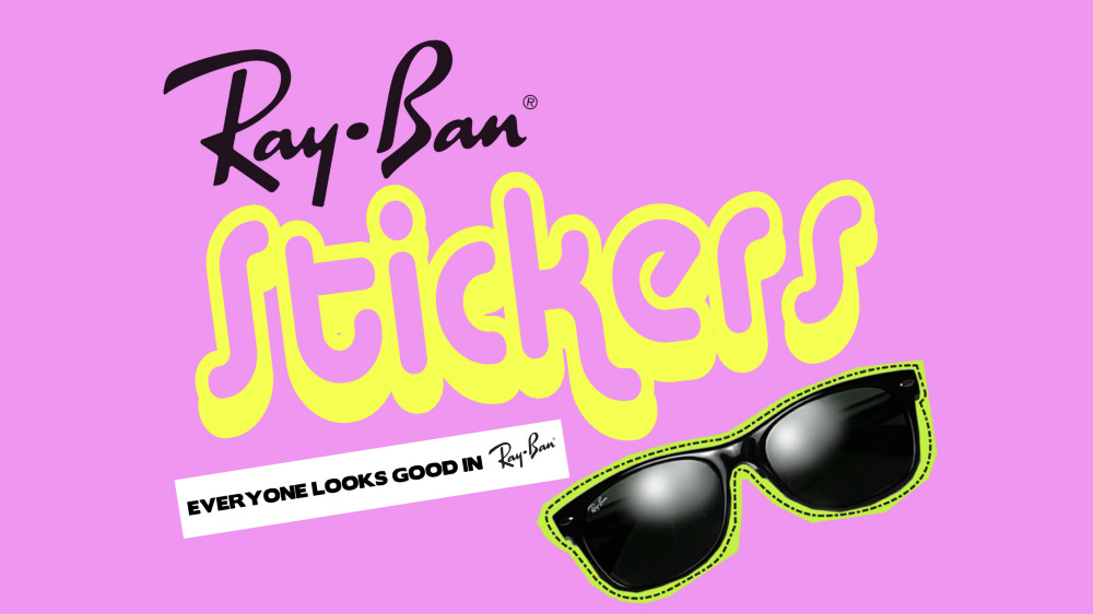 ray ban logo sticker