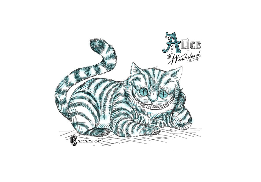 Pin Tumblr Drawings Alice In Wonderland Cat The On Pinterest
