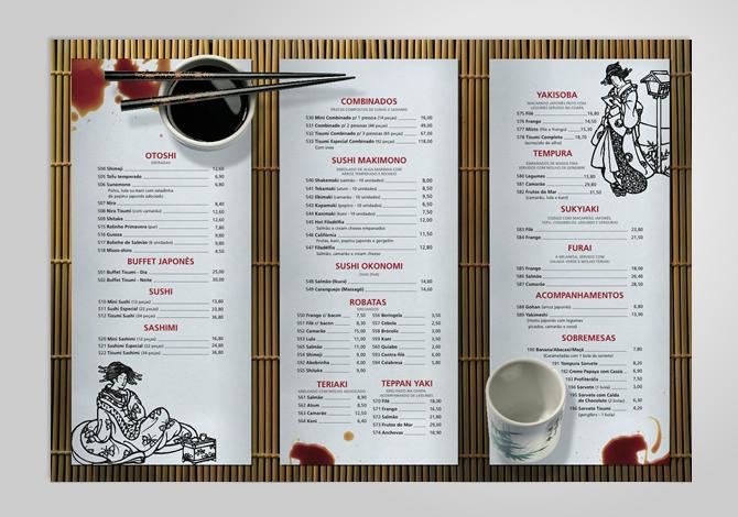 Tisumi japanese restaurant raphael marinho branding for Asian 168 cuisine menu