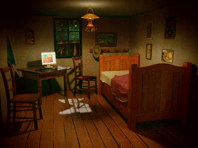 Van Gogh S Room Pixel Amp The Cat